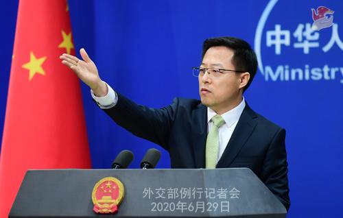 外交部:中方决定对在涉港问题上表现恶劣的美方人员实施签证限制